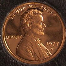 1977-S Cameo Proof Lincoln Memorial Cent #0219 - $2.29