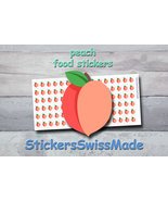 peach   planner stickers   food icon   for planner and bullet journal - $3.00+