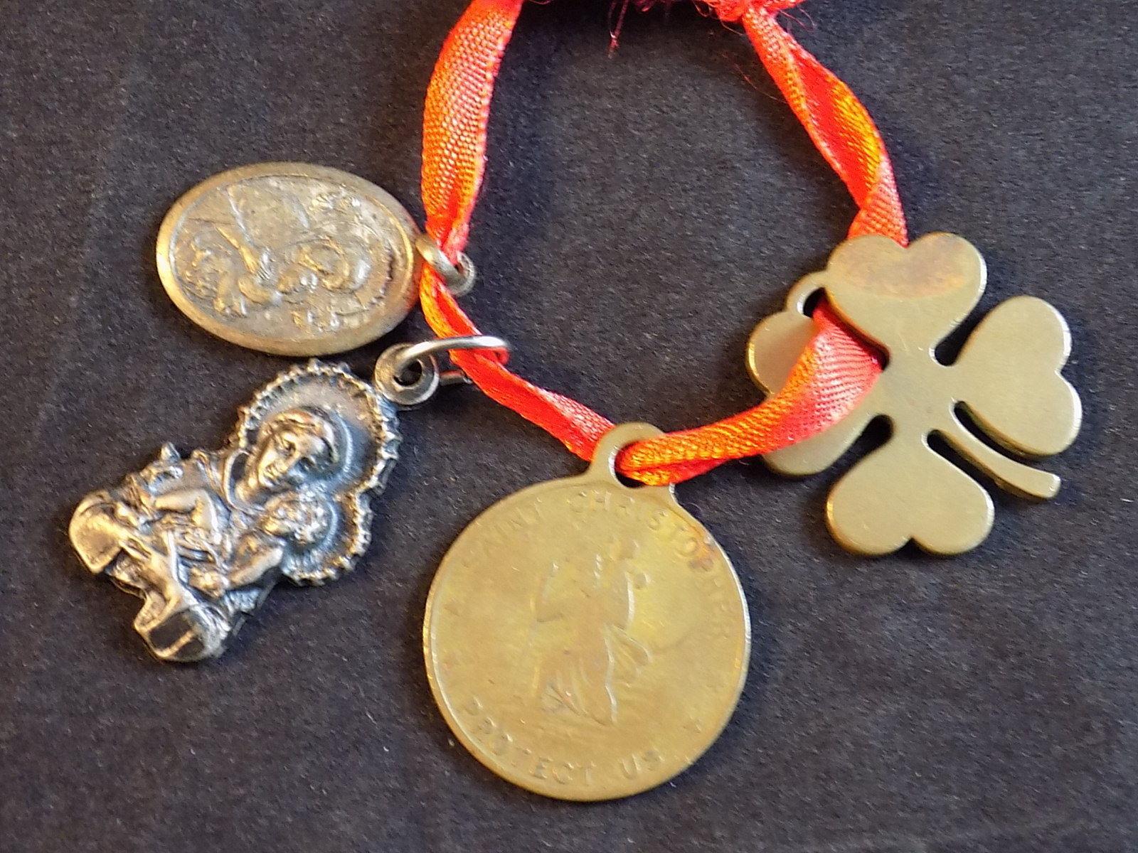 Irish Catholic SAINTS CHARM w/ Shamrock, and 50 similar items