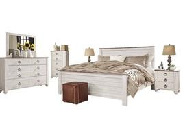 Ashley Willowton 6PC Queen Panel Bedroom Set - White - $2,270.19