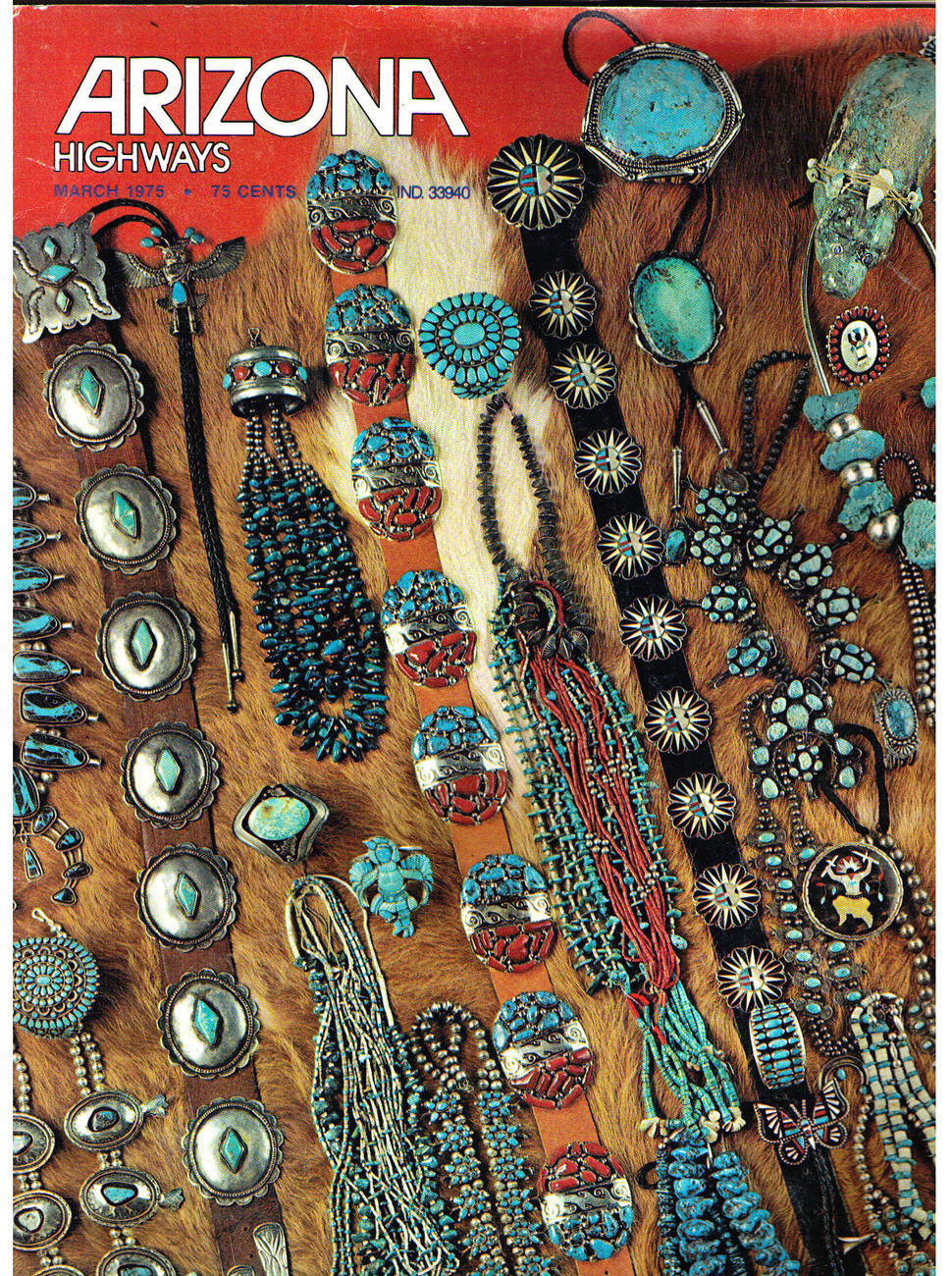 Primary image for Arizona Highways - 1975 March - NATIVE AMERICAN JEWELRY