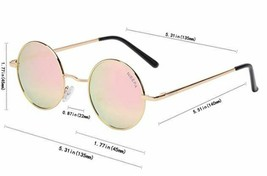 NIEEPA John Lennon Vintage Round Polarized Hippie Sunglasses Small Circle image 2
