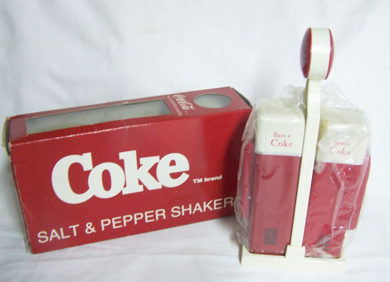 1993 Coca Cola Salt & Pepper Shakers, NIB