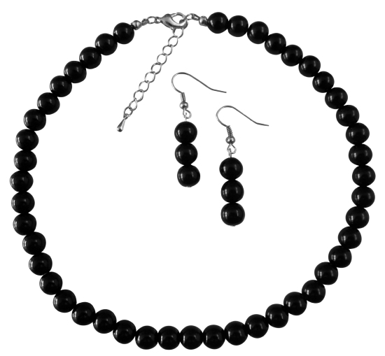 Black Pearl Wedding Jewelry Under $10 Necklace Set The Least Expensive