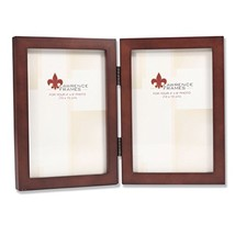 Lawrence Frames 755946D Espresso Wood Hinged Double Picture Frame, 4 by ... - $16.57