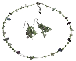 Necklce Sets UNder $10 Fluoritr Glass Beads Nugget Chips w/ Immitation - $12.08