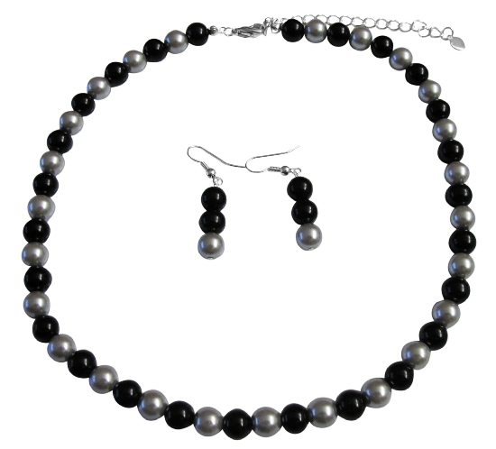 Share In The Secret Of Our Silver & Black Pearl Jewelry Set At Reasona