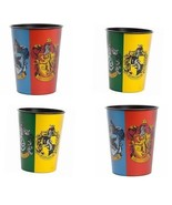 ~Four Cups~Harry Potter Hogwarts House Symbol 16oz Plastic Cups - $8.99