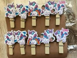 30pcs Children's Birthday Party Souvenir Favors,Wooden Clips,Wooden Clot... - $7.20