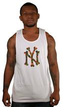 SSUR Nomad Ny OS Blanc Graphique T-Shirt sans Manche Coton Muscle Réservoir Haut