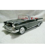 ERTL Die-Cast 1/18 Scale 1957 CHEVROLET Fuel Injected V-8 Black Convertible - $29.95