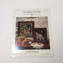 Colonial Birds Cross Stitch Pattern Book Designs by Charlotte Just Cross... - $9.74