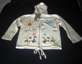 white hooded jacket, ecological Pima Cotton - $39.00