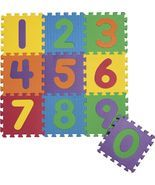 "Foam Numbers Floor Puzzle Play Mat 12"" x 12"" x ... - $18.90"