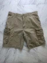 Men's Izod Beige Cargo Shorts Size 38 - $12.34