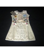 White embroidered dress for girls ,ecological Pima Cotton   - $44.00