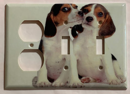 Beagle dog Light Switch Power Outlet Duplex Wall Cover plate Home decor image 4