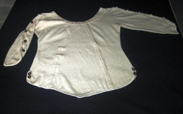 White shirt with buttons on the sleeve, ecological Pima Cott - $49.40