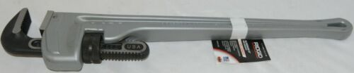 Ridgid Aluminum Twenty Four Inch Pipe Wrench Three Inch Pipe Capacity
