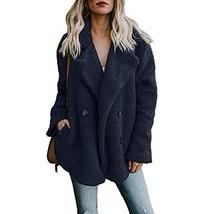 Alicegana Women's Autumn and Winter New Lapel Pocket Suit Collar Plush B... - $32.64