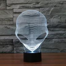 Unique 3D Pop-Eyed Alien Shape Acrylic LED Table Night Lamp With USB Pow... - $15.81