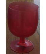 Red Satin Finish Short Stemmed Plastic Goblet - BRAND NEW WITHOUT PACKAGING - $7.91