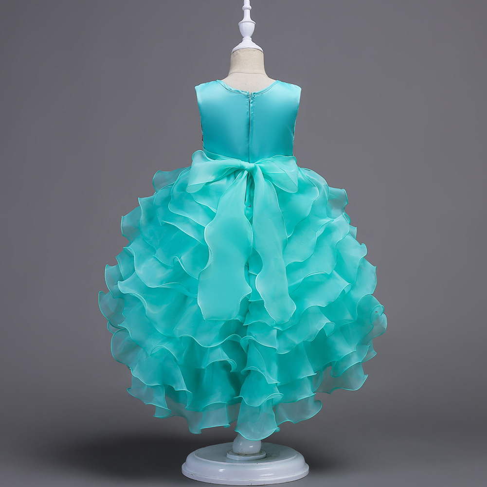 Primary image for Mint Green Pricess Flower Girl Dress Skirts Tiers Formal Party Gowns Short 2018