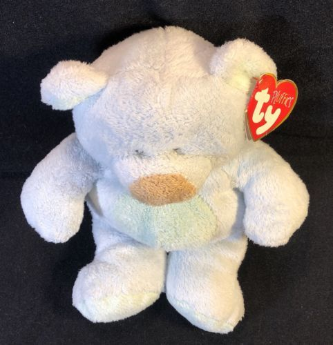 """3afdfda78d1 10"""" Ty Pluffies Bluebeary The Bear Mwmt - and 23 similar items"""