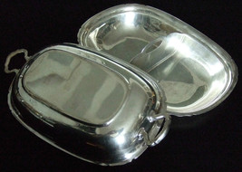 vintage REED & BARTON silverplate COVERED warmi... - $14.50