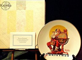 Planning Christmas by Norman Rockwell Plate with Box( Gorham ) AA20-CP2178 image 9