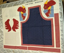 Country Rooster Cotton Apron Pattern Fabric - $15.83