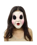 Cafele The Strangers Dollface Mask Latex Trick Face Mask for Halloween C... - $21.03