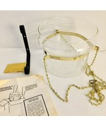 Vintage PRINCESS HOUSE Glass HANGING PLANTER Lamp Candle Holder New In Box #658 - $48.19