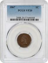 1867 1c PCGS VF20 - Indian Cent - $116.40
