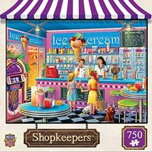 MasterPieces Shopkeepers Jigsaw Puzzle, Anna's Ice Cream Parlor, Featuri... - $14.39