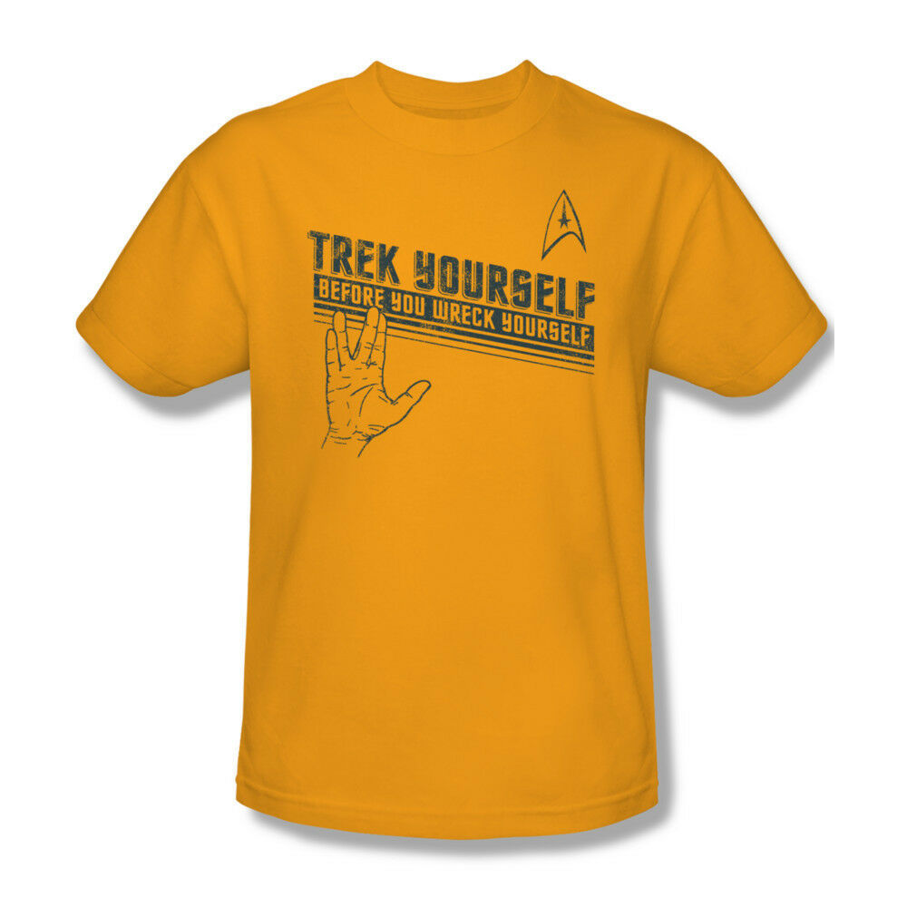 Star Trek Trek Yourself T-shirt retro sci-fi cotton Kirk Spock tee CBS1109
