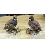 "Vintage Pair Quail Ceramic Figurines Set of 2 Birds Japan 6"" - $39.59"