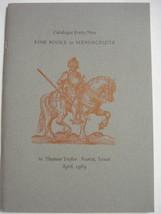 Fine Books & Manuscripts 1989 Catalog No. 49, W. Thomas Taylor, Austin, ... - $11.99