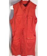 Sharagano Womens Size 6 Sleeveless Dress Orange/red Pockets P3 - $11.39