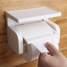 White ABS Bathroom Roll Paper Holder Cell Mobil... - $19.44