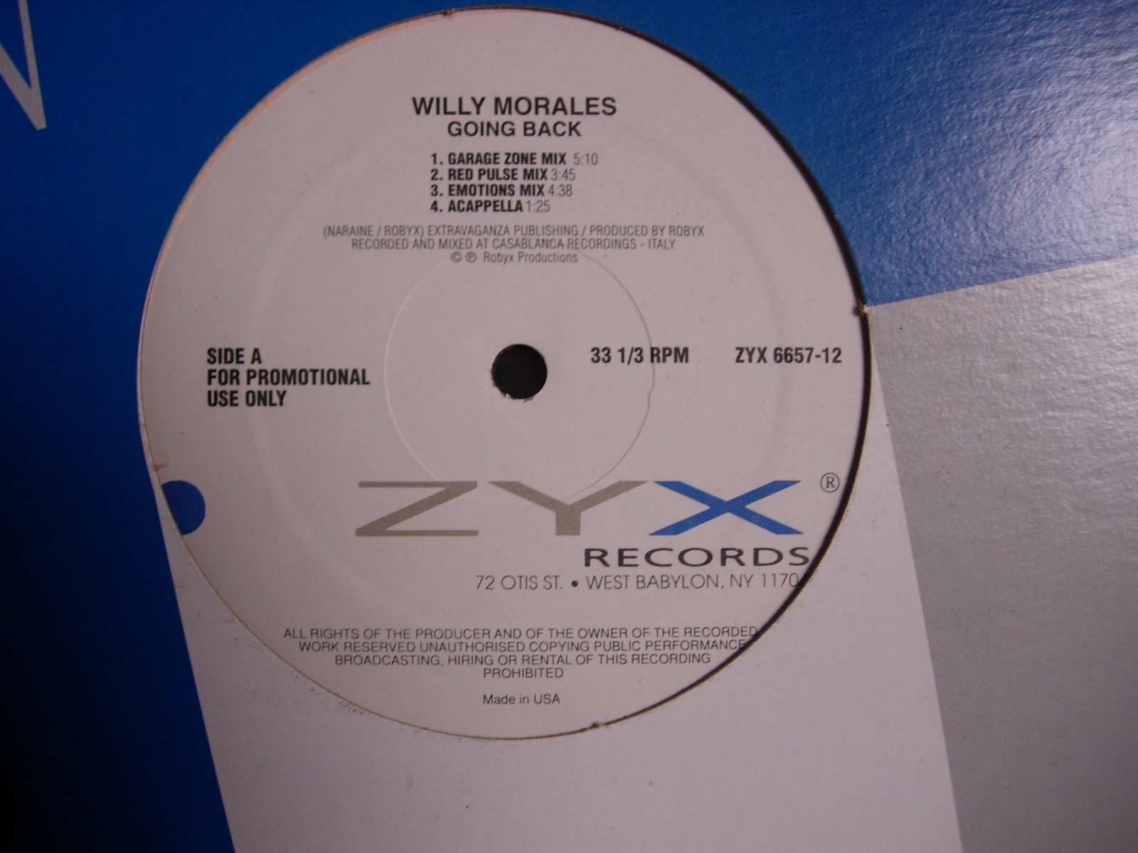 Willy Morales - Going Back / Last Train to London - ZYX Records 6657