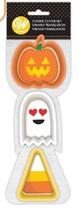 Wilton Halloween Ghost Pumpkin Candy Corn 3 Pc Cookie Cutter Set - $3.99