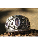 Haunted Ring Illuminati Prophetic Visions Magickal portal Interface  - $477.77