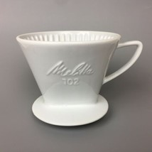 Melitta #102 Pour Over Ceramic Coffee Filter Holder 3 Hole White USED - $17.82