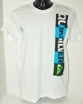 Quiksilver Brand - Kids Tshirt Apparel White Logo Shirt Youth Or Fits Women Xl - $3.66