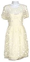 J Crew Women's Kiera Embroidered Tulle Dress White E6894 Size 2/Fits like 0 - $147.19