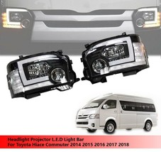 Headlights Projector L.E.D Lights Bar For Toyota Hiace Commuter 2014 - 2018 - $729.65