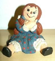 "1987 Smiley Girl Sitting figurine resin material 5"" - $14.85"
