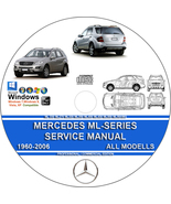 MERCEDES ML230 ML320 ML350 ML400 ML430 ML500 ML27cdi SERVICE REPAIR MANU... - $10.00