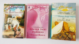 Love Inspired ~ Lot of 3 Books 4 Novels ~ Heaven Sent Husband, Small Tow... - $4.80